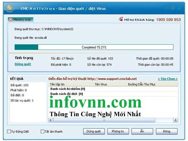 Phần mềm quét virus CMC miễn phí